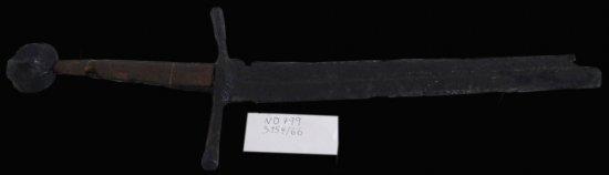 Gotický jeden a pol ručný meč, prelom 13. a 14. storočia