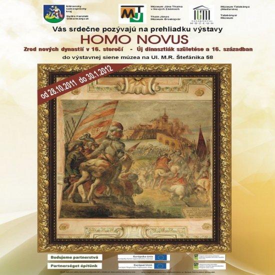 plagát výstavy Homo Novus